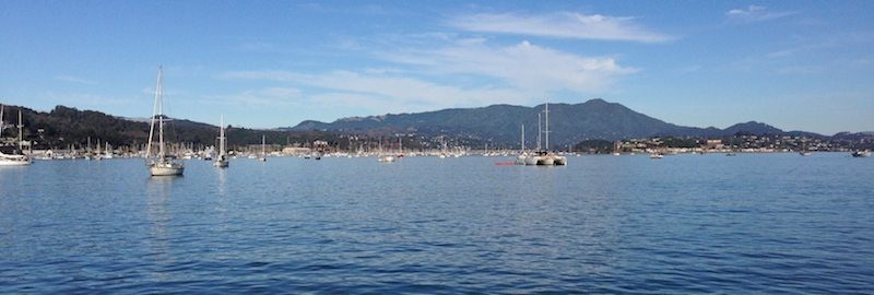 The view into Richardson Bay