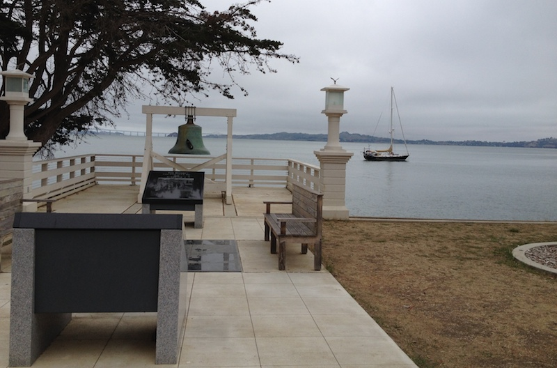 The Liberty Bell on Angel Island where immigrants from Asia arrived