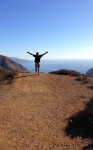 After dragging Ted on another hilly hike, I forced him to throw his arms up in celebration! A long suffering man….