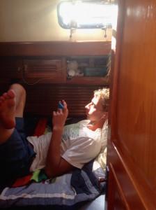 Josh enjoying tech time!